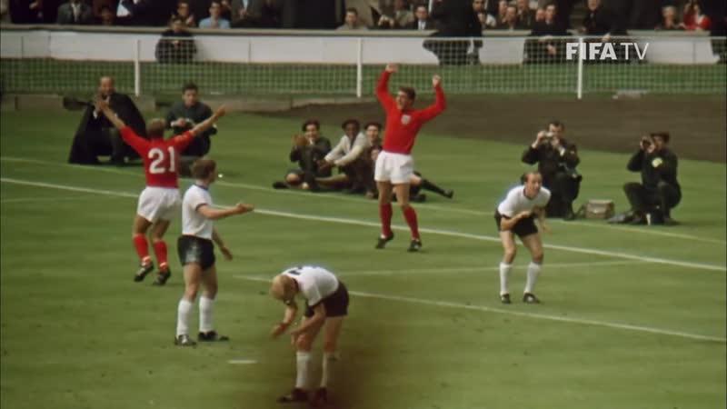Финал ЧМ-1966. Англия - Германия 4:2. Первый гол Джеффа Херста