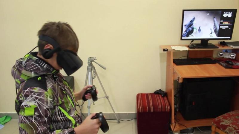 27.04.2018 Часть 2 - Играют в Виртуальную Реальность - SuperHot, RoboRecall - поселок Игра VR