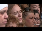 Adele joins Grenfell Tower mourners