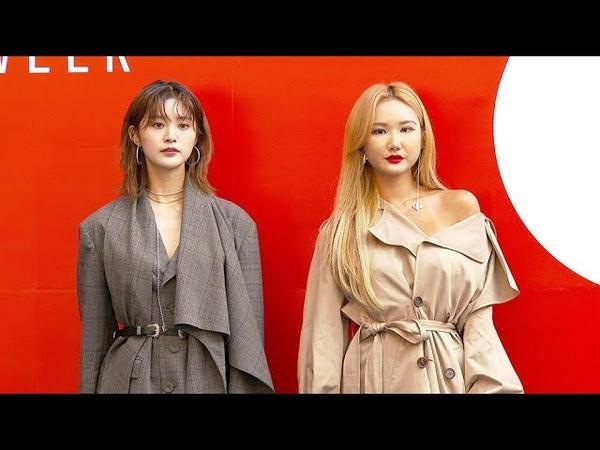 [4K영상] '2019 SS 헤라서울패션위크' 이엑스아이디(EXID) 정화-LE, 살짝보이는 섹시미(181016)