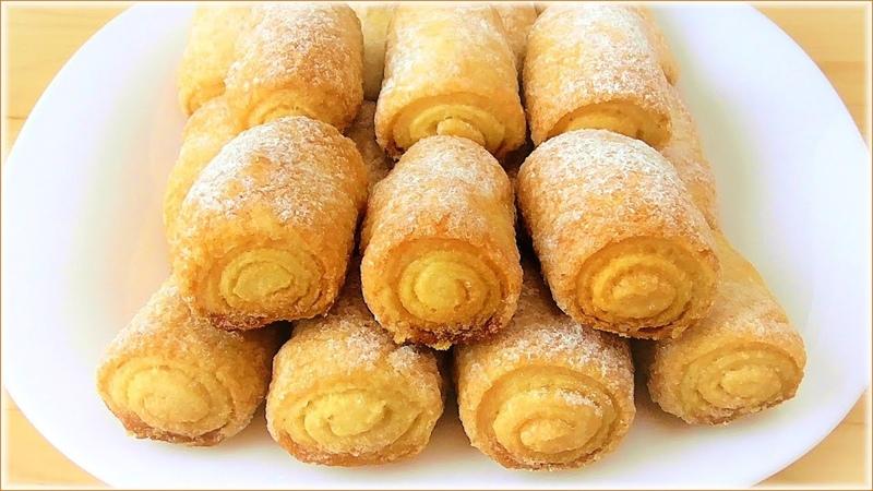 Простой рецепт вкусного печенья! Печенье Сахарные трубочки