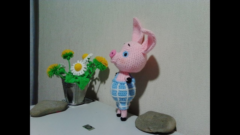 Пятачок из Винни пух, ч.1. Piglet from Winnie Pooh, р.1. Amigurumi. Crochet.