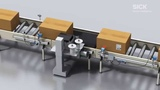 4Dpro Transport labeling with barcode scanner and fieldbus module SICK AG