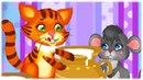 Весела дитяча пісня КІТ І МИШКА українські пісні та музичні мультфільми З любов'ю до дітей Zdd