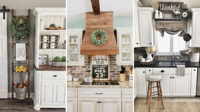 ❤DIY Rustic Shabby chic style Kitchen decor Ideas❤ Farmhouse decor Ideas Flamingo Mango