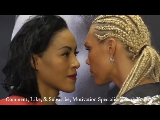Mikaela Lauren Kisses Her Opponent Cecilia Braekhus