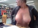 Домашнее русское порно, показала сиськи в библиотеке