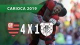 FLAMENGO 4 X 1 AMERICANO - GOLS - 2402 - CAMPEONATO CARIOCA 2019