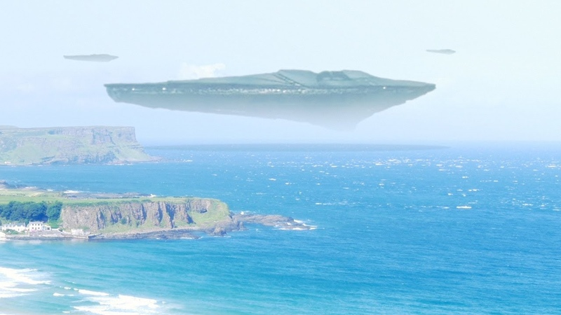 UFO Motherships fleet arriving in SCOTLAND Aug 2018