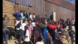 Migrants Try To Storm US Border In California, Border Patrol Fire Pepper Spray Bullets