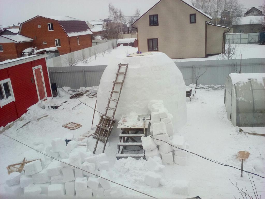 Снеговик-гигант. Город Воскресенск