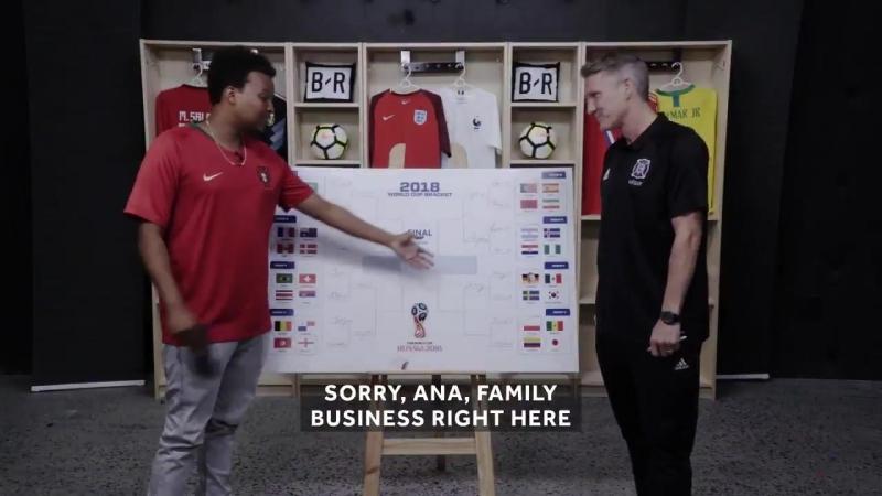 We got Schweinsteiger to fill out a World Cup bracket.