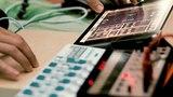 Mobile Electronica Jam Starring Ipad, Wooden Box, Volca Keys
