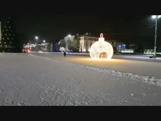 Новогодняя площадь Ленина в Бресте (2018-2019)