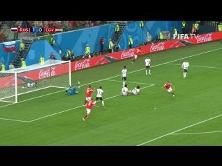 3 гола России Египту и реакция на Фестивале болельщиков FIFA в Санкт-Петербурге