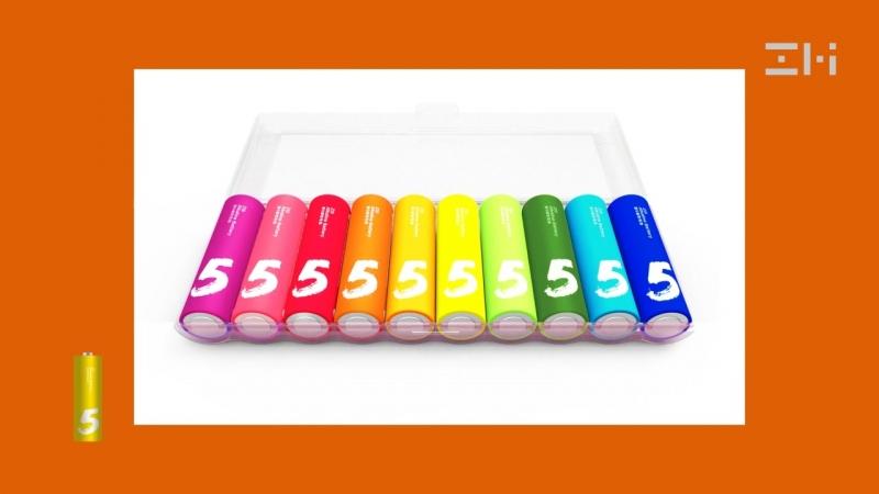Батарейки Xiaomi Rainbow