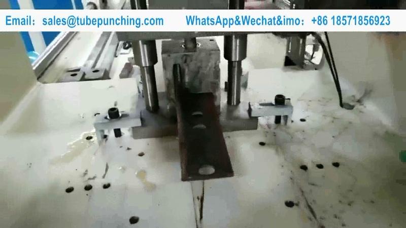 8mm Thickness Angle Iron Automatic Punching Machine Heavy Duty CNC Punching Machine