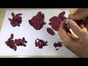 Хвалева Марина 2 Как создать цветок георгина для композиции в стиле Марсала Часть II
