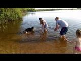 Первое знакомство с водой))Буль буль....