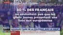 60% des Français ne veulent pas d'une liste Gilets Jaunes aux Européennes (LCI, 01/02/19, 10h54)