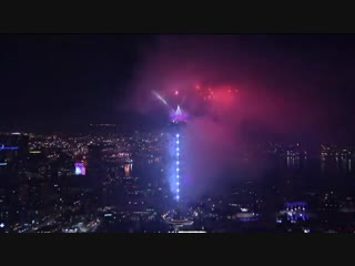 The New Years Eve fireworks in Seattle featured Lady Gaga's single The Edge Of Glory