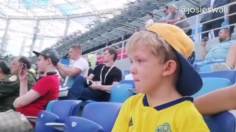 Marcus Berg's Son Reacts to Dad's World Cup Debut Ф2018