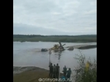 На переправе на речке Малая Ботуобия в Мирнинском районе (МУАД) утопили иномарку