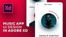 Design Mobile App UI Adobe Xd - Speed Art Tutorial