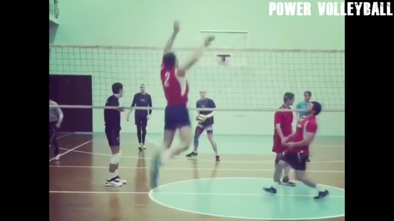 Amateur Volleyball. Monster 3rd Meter Spikes (HD)