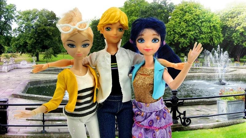 Куклы. Видео для детей, как Маринетт и Хлоя стали подругами