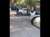 В результате ДТП на Береговой 51 перевернулся автомобиль - 03.05.18 - Это Ростов-на-Дону!
