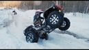 Наваливаем на BRP Xmr 1000 и Can-am Renegade по снежной ЖИЖЕ