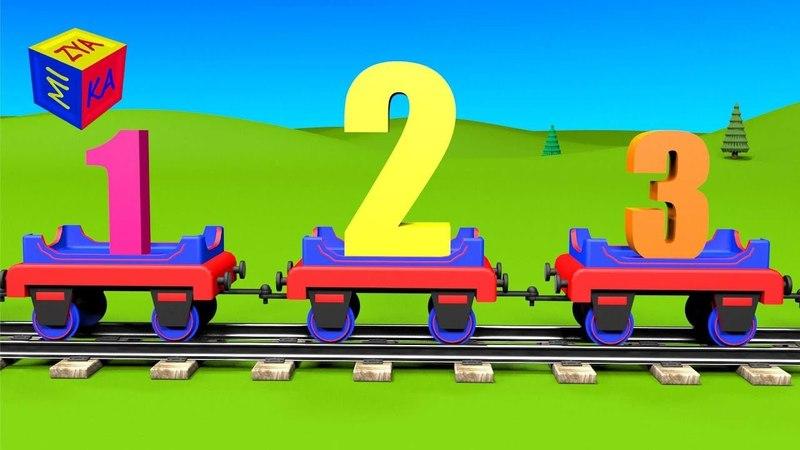 Apprenez la chanson des chiffres avec Tchou-Tchou le petit train Dessin animé éducatif pour petits