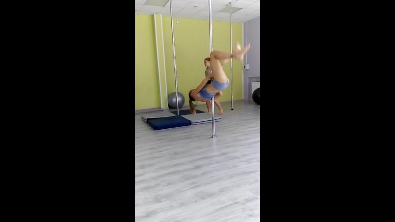 Пилон акробатик. Начинающие. Карина Смелова.
