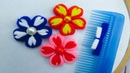 Hand Embroidery, Double Color Flower Tricks, Flower Tricks with Hair Comb, Crafts Embroidery