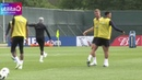 Gareth Southgate leads England training despite dislocated shoulder