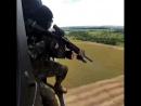 Стрельба из вертолета по мишеням. Тренировки спецназа по стрельбе.