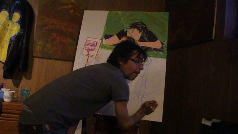 Je vais peindre un junki dans ma toile Le sniffeur de coke du