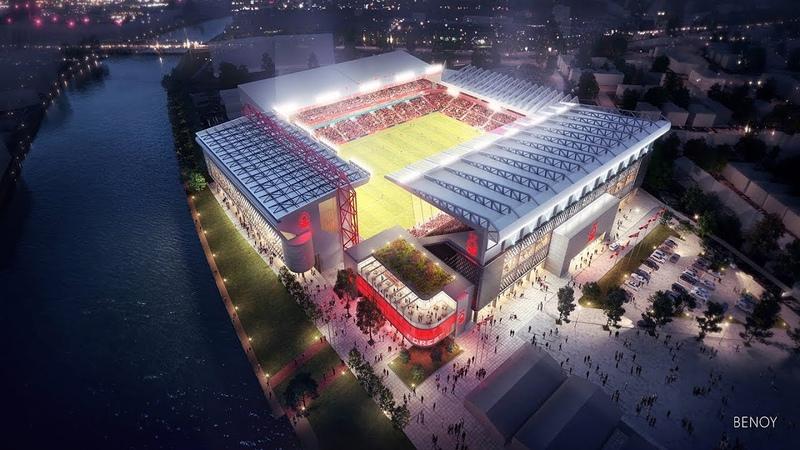 Проект реконструкции стадиона Сити Граунд Уэст Бриджфорд Англия