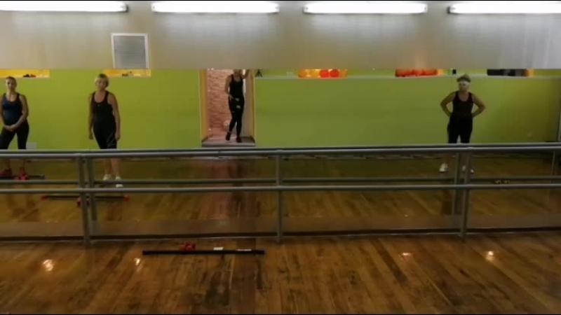 Силовая круговая тренировка. бодибар, гантели, степ