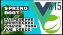 Решение циклических ссылок в JSON. Vue debug. Spring Boot Rest