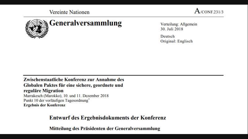Migrationspakt: CDU/CSU, Grüne, Linke, FDP und SPD geben ihrem eigenen Land den Todesstoß