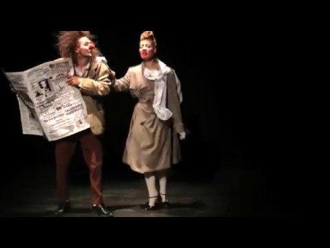 Ученики театра Лицедеи, клоун-мим-театр МИМЕЛАНЖ, отрывок номера Газета