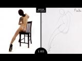 Proko Figure drawing fundamentals - 01 Gesture - Gesture Quicksketch - 2 Minute Pose (8)