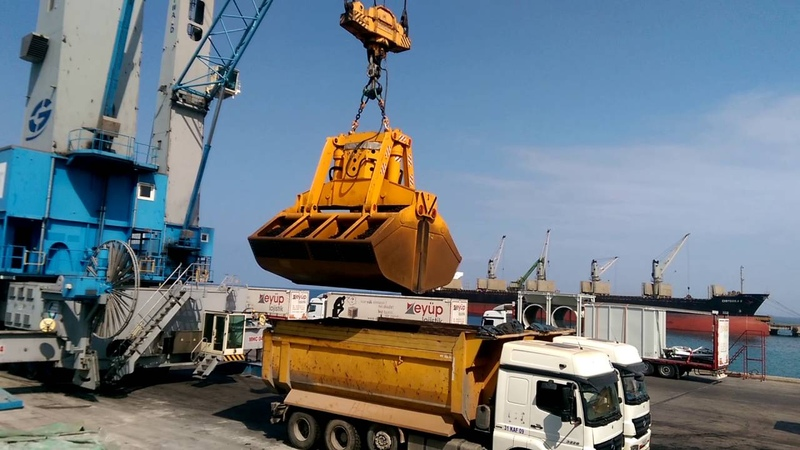 GUVEN GRAB - ELECTRO HYDRAULIC CLAMSHELL GRAB FOR LIEBHERR