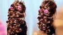 Обучение Прическам. ГРЕЧЕСКАЯ КОСА из Своих волос. Greek Bubble Braid