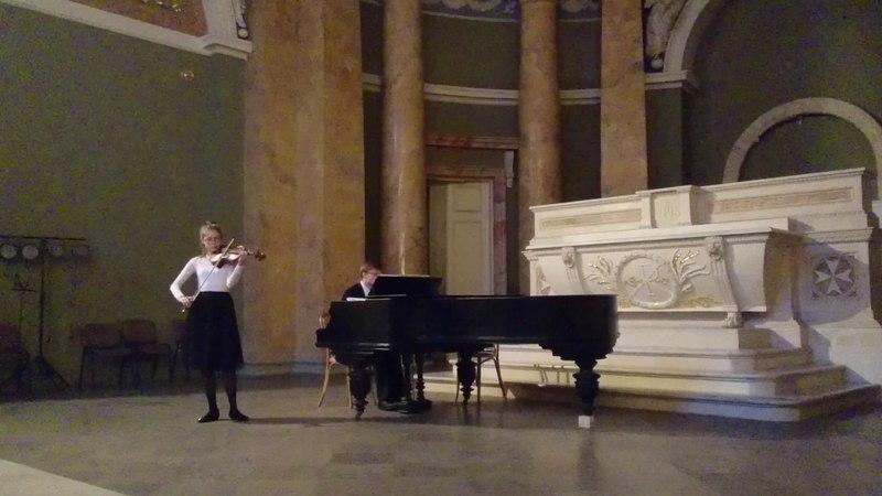 Мальтийская капелла, Балетные сцены, скрипка Смирнова Александра, фортепиано Артём Бочкарёв.