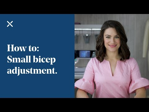 How To Small Bicep Adjustment - Decrease Bicep
