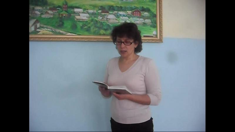 "Шәүкәт Галиев ""Тамчы тама иде"" укый Эльза Рамил кызы Закариева"