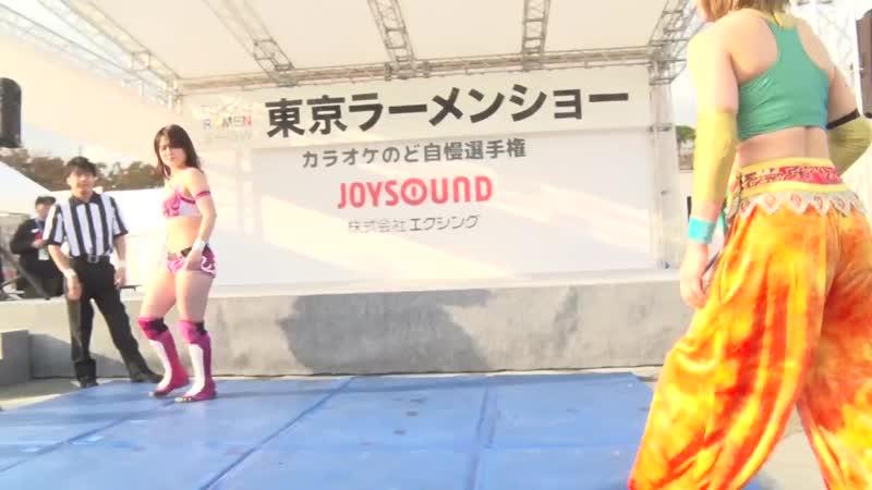 Hyper Misao Miyu Yamashita vs Azusa Takigawa Yuka Sakazaki DDT Tokyo Ramen Show 2018